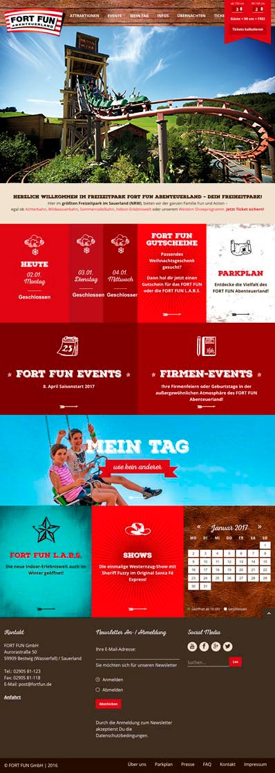 Fort Fun Corporate Website - tablet