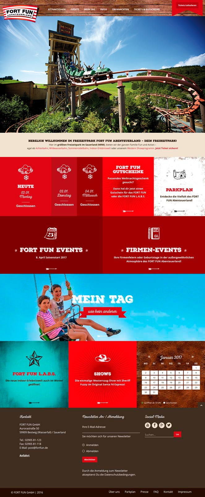 Fort Fun Corporate Website -notebook