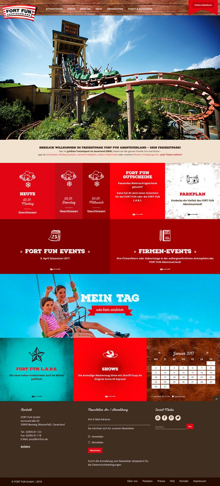 Fort Fun Corporate Website - desktop